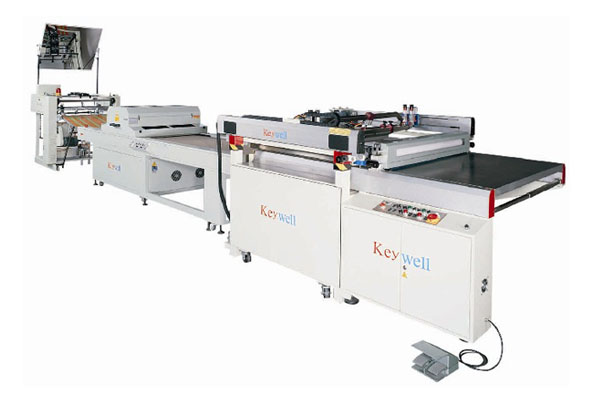 3/4-Auto Four-Post Table Sliding Screen Printing Machine( Rear Take-off)