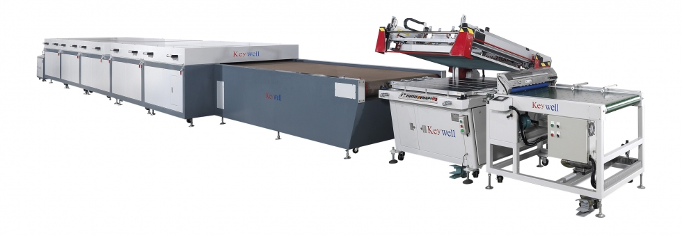 Automatic Clam-shell Screen Printing Machine (Automatic feeder (optional) / Static eliminator / Auto registration for printing / Auto delivery)