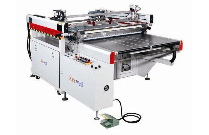 3/4- Auto Table Sliding Belt Take-off Glass Screen Printing Machine